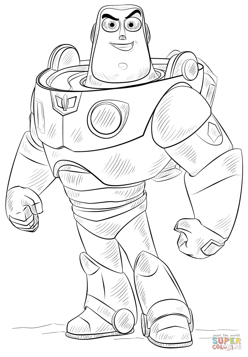 Buzz Lightyear coloring page | Free Printable Coloring Pages