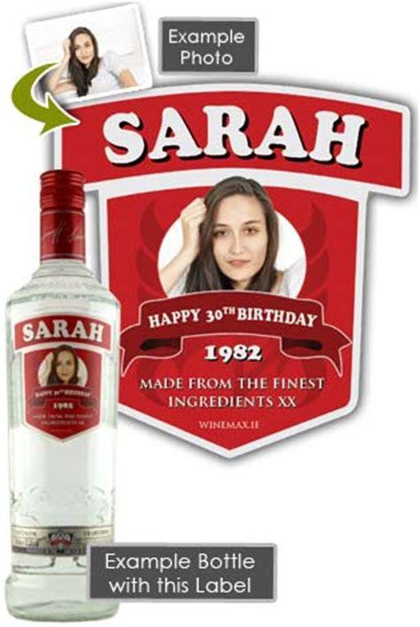 smirnoff vodka personalised bottle gift cl smir