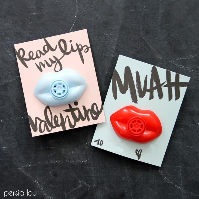 printable lip valentines www.persialou.com 7