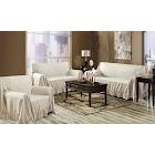 Kashi Indoor Furniture Cover Ivory Venice Three-Piece Jacquard Sofa Cover Set Sofa