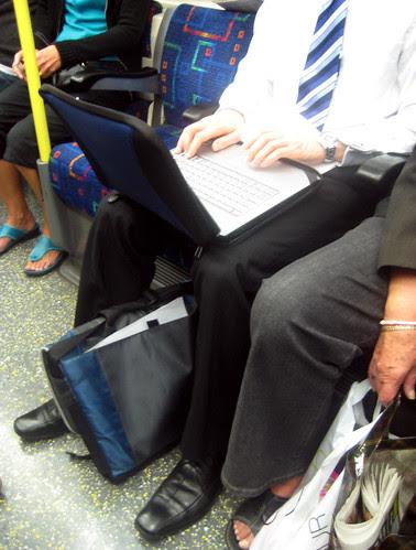 Laptop on the London Underground