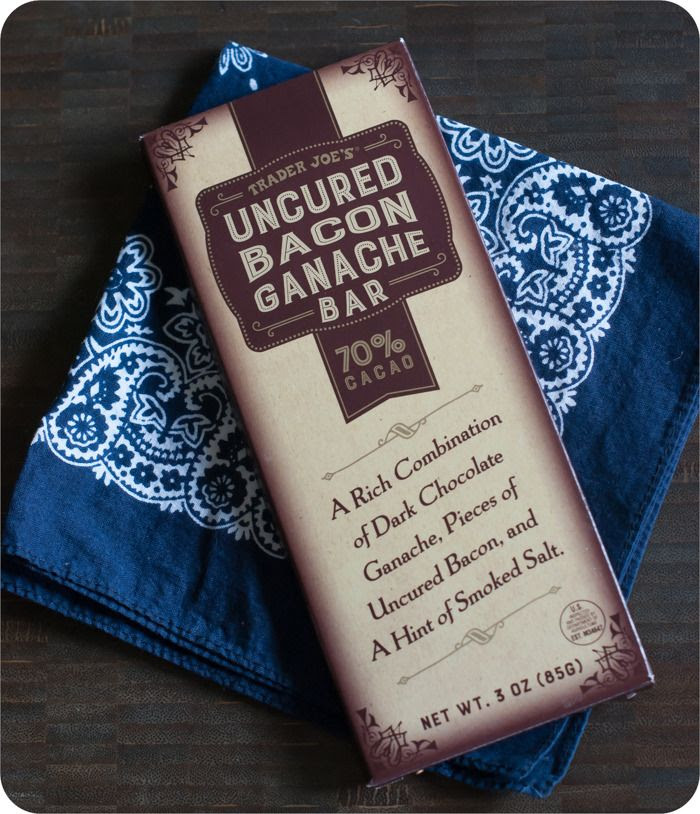 trader joe's uncured bacon ganache bar review : part of a weekly review series of tj's desserts