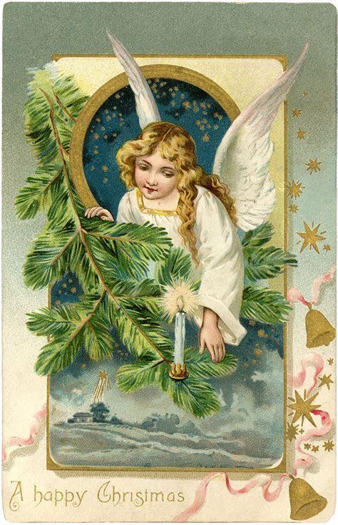 Vintage Angel Postcard   Christmas   The Graphics Fairy