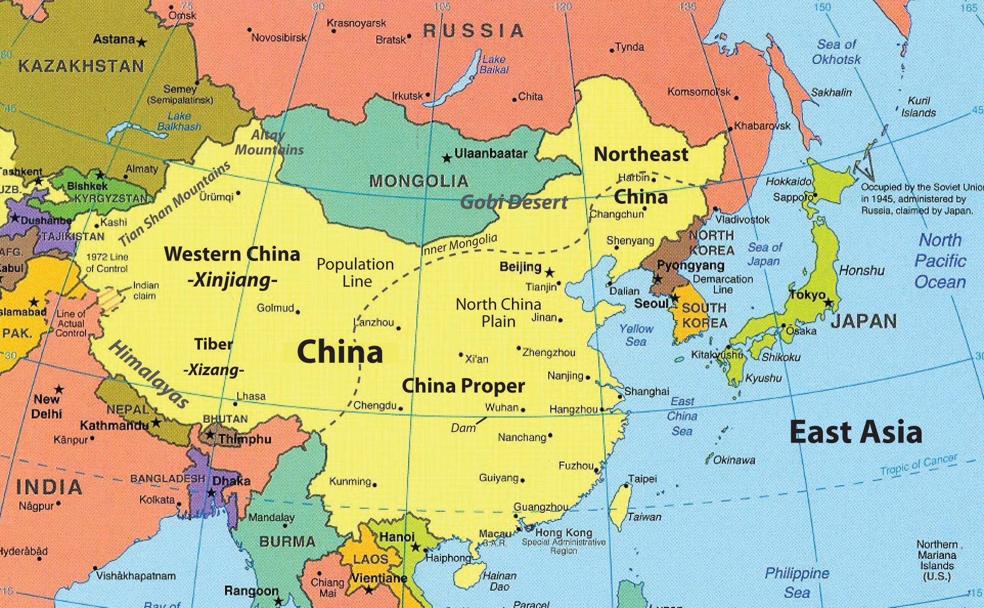 Map Of Hong Kong And Surrounding Countries Map Of Hong