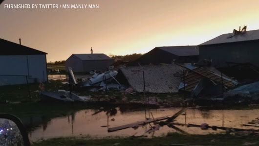 Communities clean up after severe storms sweep MN |