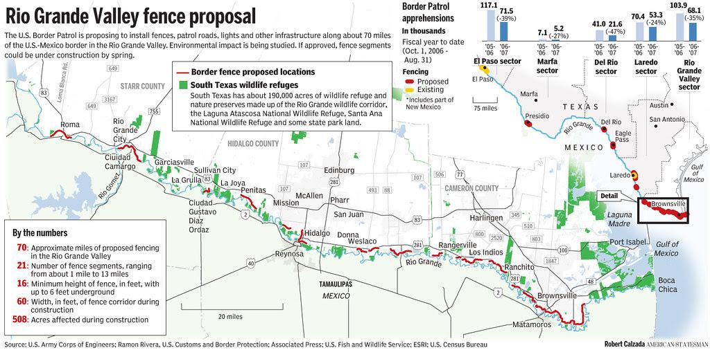 Texas+Border+Fence+Map