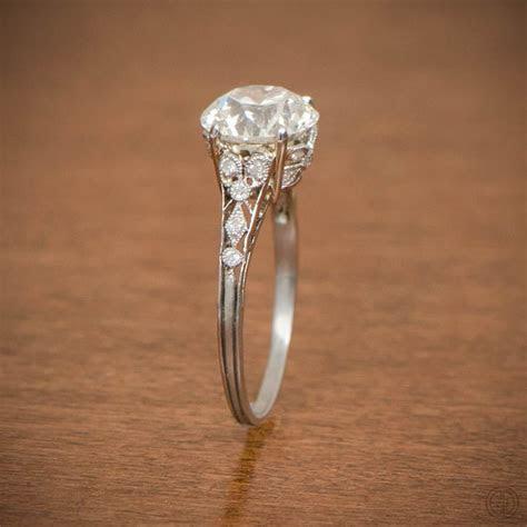 Edwardian Style Engagement Ring   Platinum and Diamond