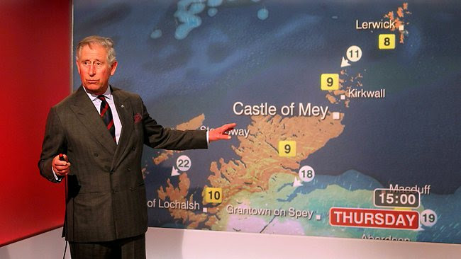 Prince Charles weather BBC