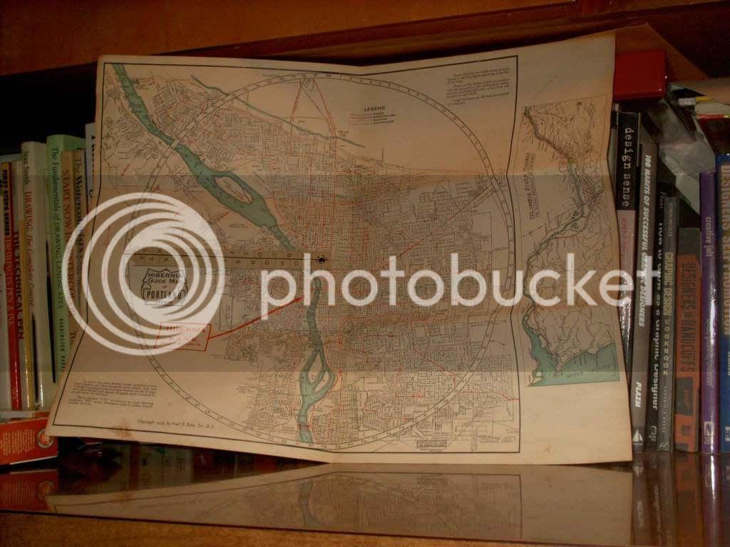 1928 Portland Map unfolded 1