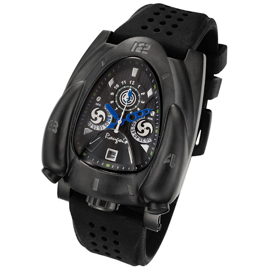 Black and Blue Rougois Rocket Watch