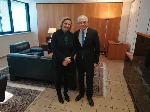 Ενημερωτική Συνάντηση της Μαριλένας Σούκουλη-Βιλιάλη με τον νέο Πρόεδρο του ΕΛΓΑ κ. Αντρέα Λυκουρέντζο