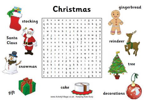 Christmas Word Search 1