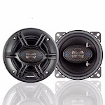 "Blaupunkt GTX401 240 W Max 4"" 4-Way 4-Ohm Stereo Car Audio Coaxial Speakers"
