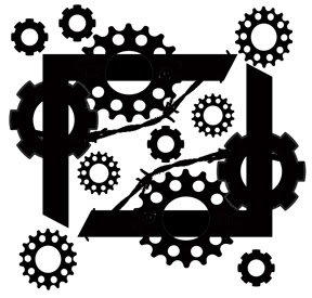 2 page corners and cogs  8x8 or 200 x 200 sold in 3\'s