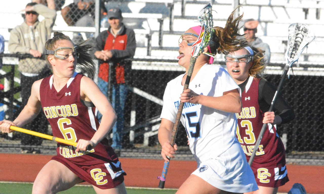 Kenzie Pleshaw (15) scored five goals and the Panthers rallied from an early deficit to beat Concord-Carlisle. (Josh Perry/HockomockSports.com)