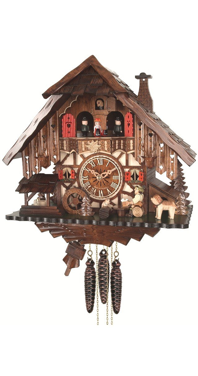 Amazon.com - Quartz Cuckoo Clock Black Forest house with moving ...
