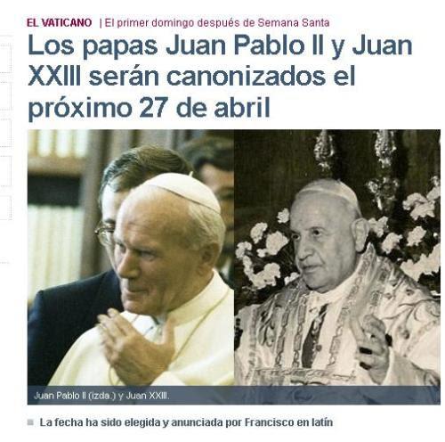 papas canonizados