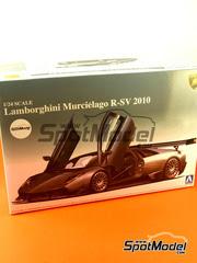 Maqueta de coche 1/24 Aoshima - Lamborghini Murcielago R-SV  2010 - maqueta de plástico