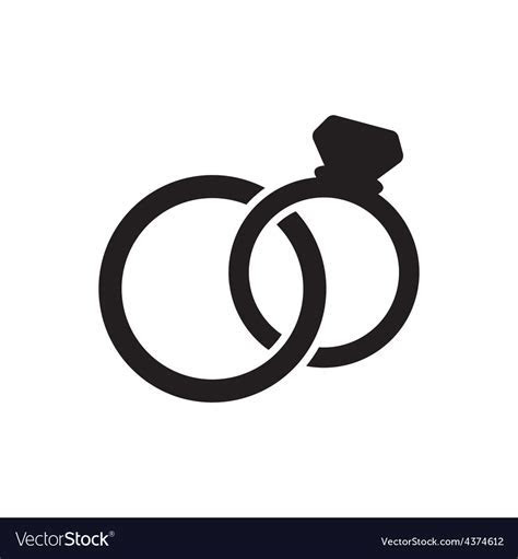 Wedding rings icon Royalty Free Vector Image   VectorStock