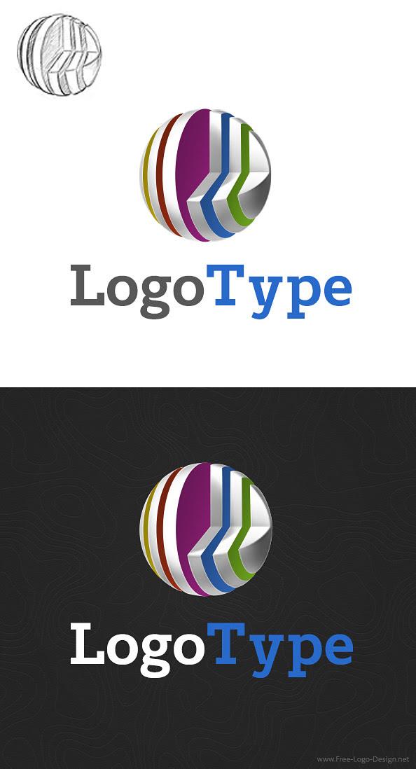 3D online Puzzle Logo + FREE Business Card