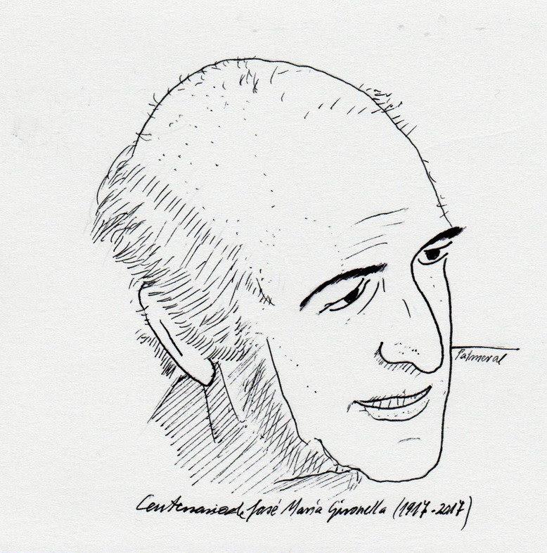 Dibujo de José María Gironella / Palmeral.