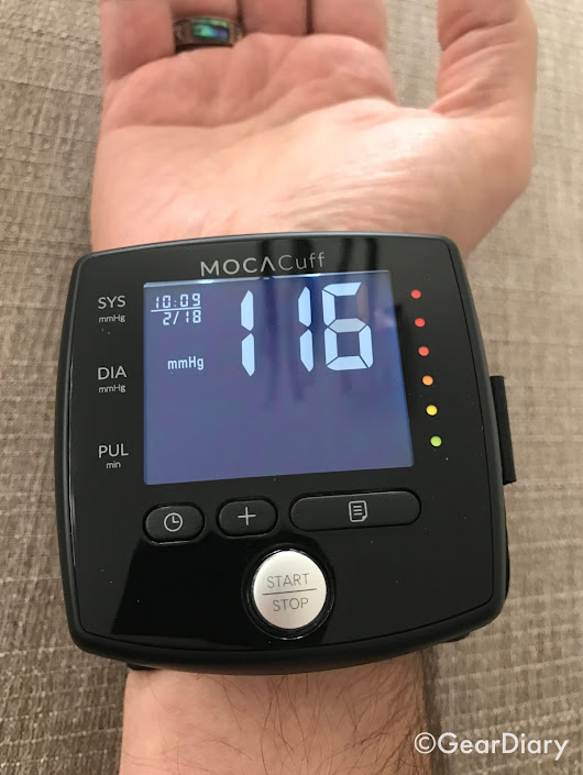 MOCAcuff Wrist Monitor Makes Blood Pressure Checks Simple •