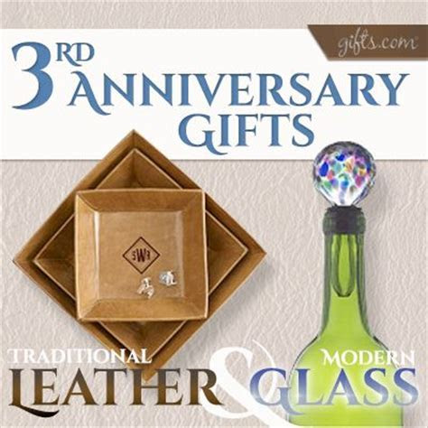 Third #Anniversary Gift Guide. See what the traditional vs