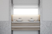 Beautiful Bathroom Ideas Hexagon Tile wallpaper