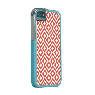 Orange and White Meander iPhone 5/5S Case