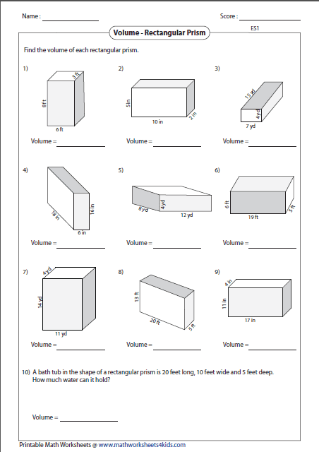 rectangular prism large