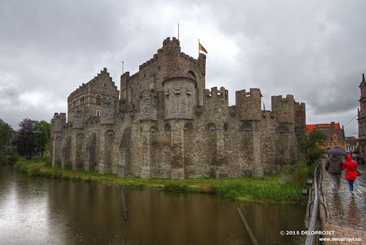 Time travel in the Gravensteen castle in Ghent.