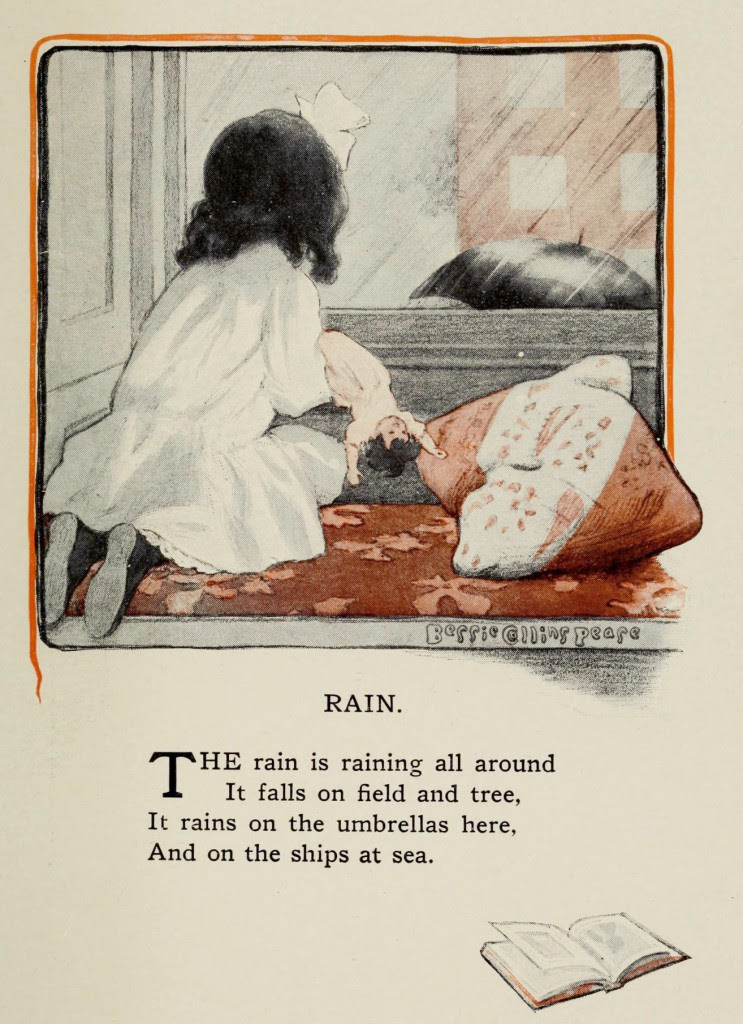 The Rain - Illustration by Bessie Collins Pease