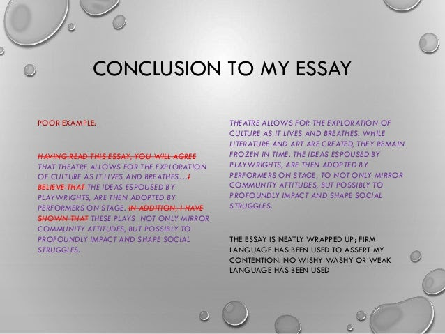 how to write a conclusion for an academic essay