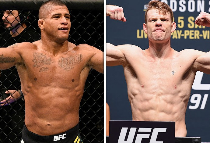 Montagem UFC Gilbert Durinho x Paul Felder  (Foto: Editoria de arte)