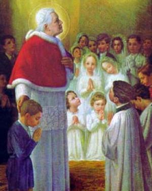 Risultati immagini per San Pio X il papa innamorato di Maria santissima e lìeucarestia