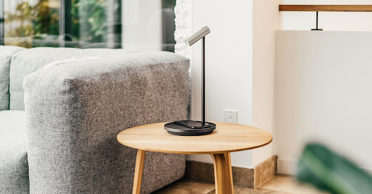 Olie is a smart lamp with Alexa and wireless charging built in