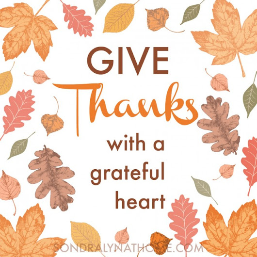 'Give Thanks' Thanksgiving Printable - Sondra Lyn at Home