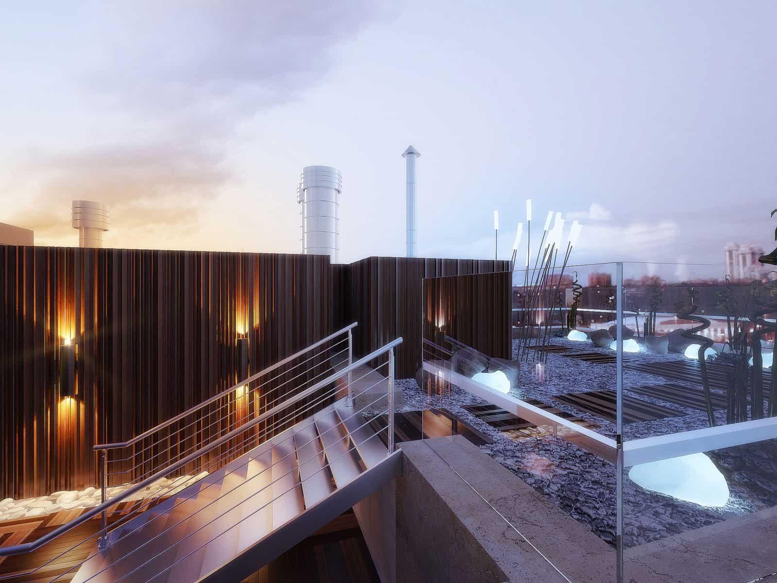 Penthouse on Gilyarovskogo Street by Oxana Yuryeva (