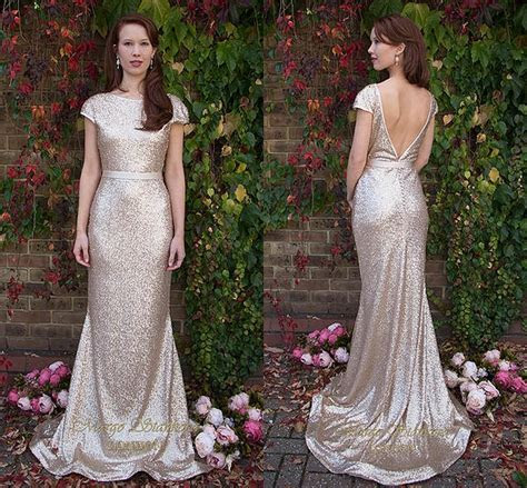 Bling Bling Gold Sequin Long Bridesmaid Dresses 2016 Plus