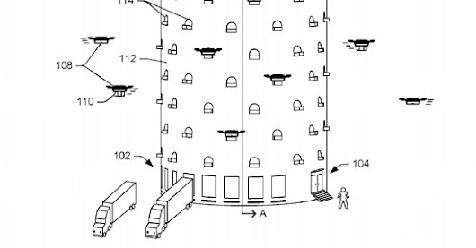 Amazon's idea for a massive drone dock looks like a cross between a beehive and a spaceship