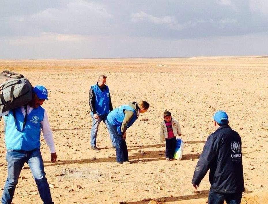 El pequeño Marwan huye de Siria
