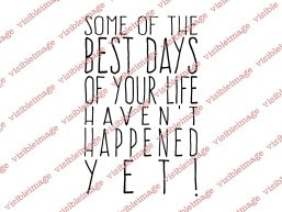 Visible Image The Best Days sentiment stamp