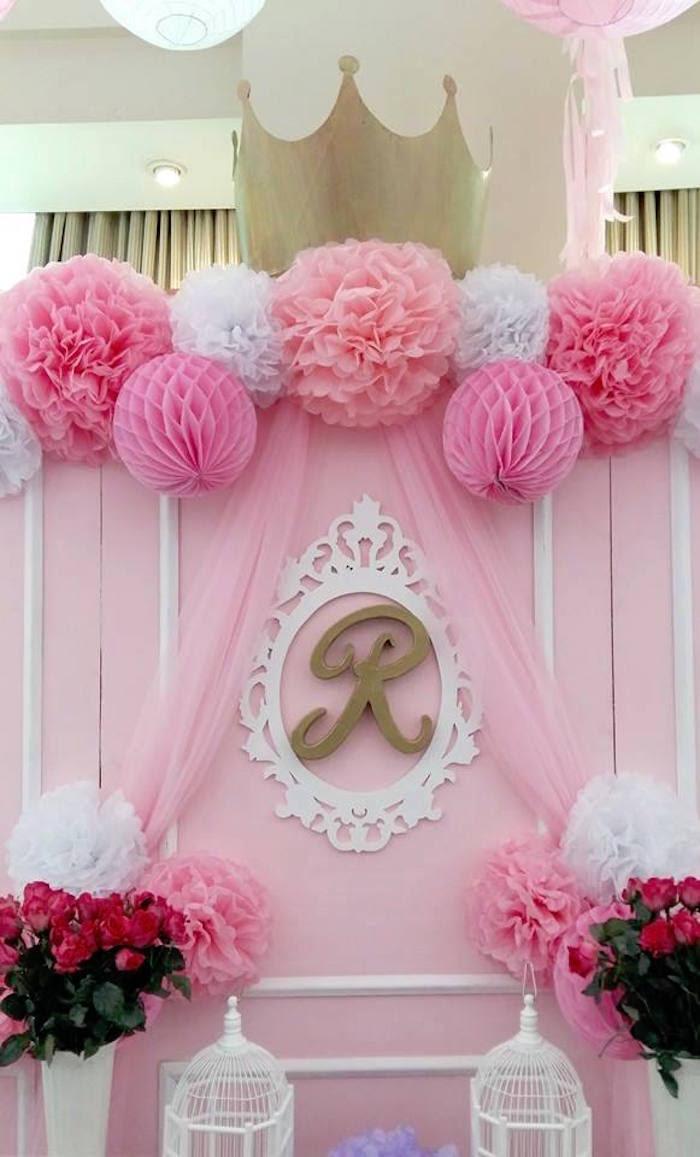 Kara's Party Ideas Pink Princess Baptism Party | Kara's ...