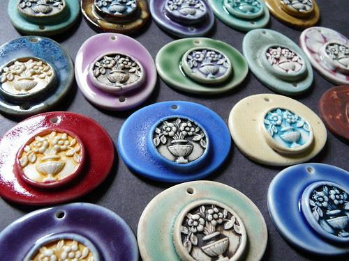 Simple Charm Porcelain Pendants