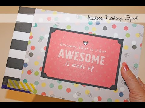 Mini Album Project Share: Chipboard & Pocket Pages by Heidi Swapp