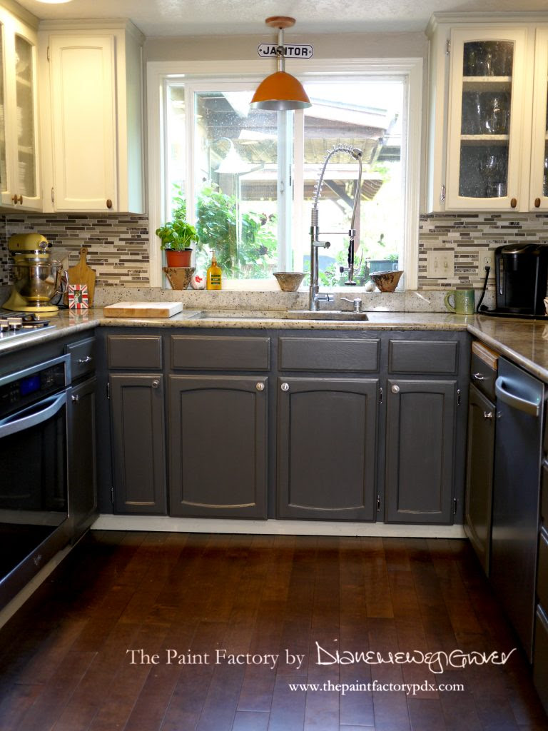 Painting Kitchen Cabinets with Wise Owl One Hour Enamel ...
