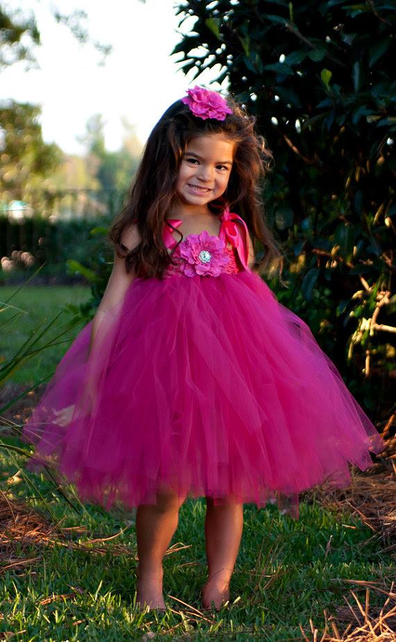 raspberry surprise girls tutu dress