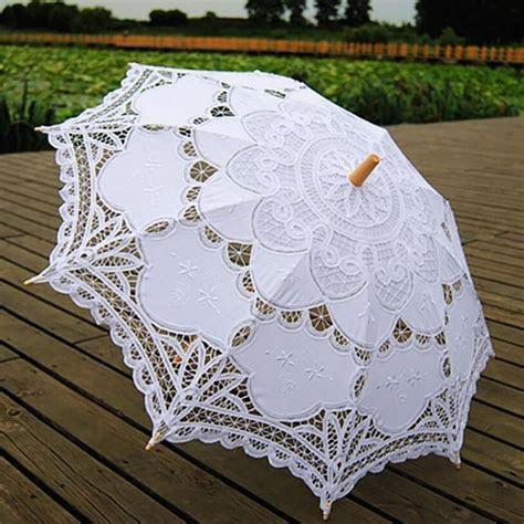AU Vintage Lady Handmade Cotton Lace Parasol Umbrella