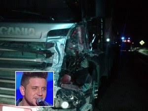 Renan Ribeiro, do The Voice Brasil, morre em acidente em rodovia de SP (Foto: Reprodução/EPTV e TV Globo)