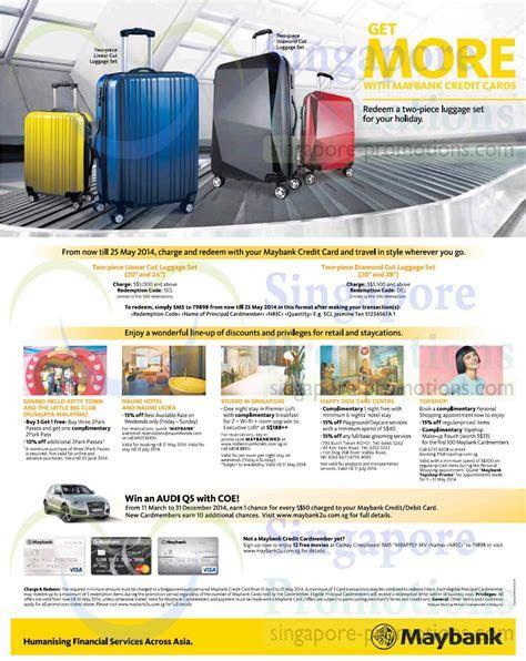 Maybank Credit Cards FREE Luggage Set Promo 17 Apr ? 25